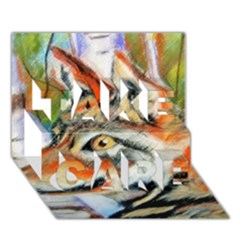 Wolfpastel TAKE CARE 3D Greeting Card (7x5)