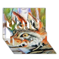 Wolfpastel You Rock 3D Greeting Card (7x5)
