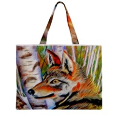 Wolfpastel Zipper Tiny Tote Bags