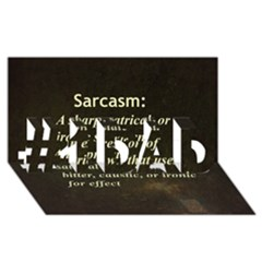Sarcasm  #1 DAD 3D Greeting Card (8x4)