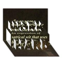Sarcasm  WORK HARD 3D Greeting Card (7x5)