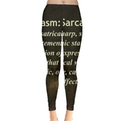 Sarcasm  Women s Leggings