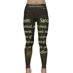 Sarcasm  Yoga Leggings