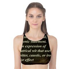 Sarcasm  Tank Bikini Top