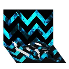 Zigzag LOVE Bottom 3D Greeting Card (7x5)