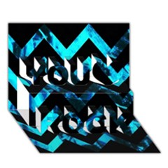 Zigzag You Rock 3D Greeting Card (7x5)