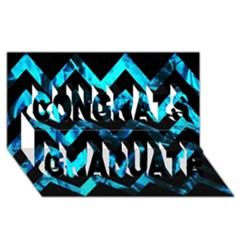 Zigzag Congrats Graduate 3d Greeting Card (8x4)
