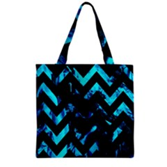 Zigzag Grocery Tote Bags