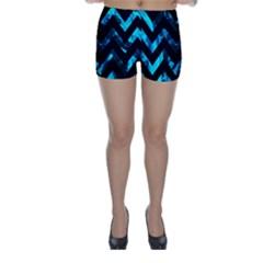Zigzag Skinny Shorts