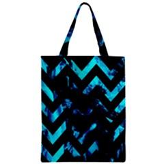 Zigzag Zipper Classic Tote Bags