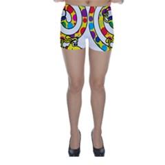 Dillys Spottydogspiral 01 Skinny Shorts