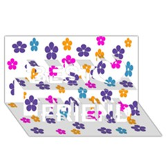 Candy Flowers Best Friends 3D Greeting Card (8x4)