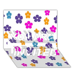 Candy Flowers YOU ARE INVITED 3D Greeting Card (7x5)