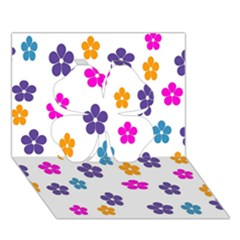 Candy Flowers Clover 3D Greeting Card (7x5)