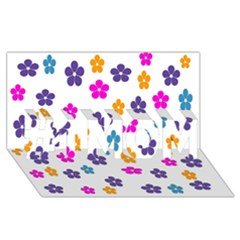 Candy Flowers #1 Mom 3d Greeting Cards (8x4)