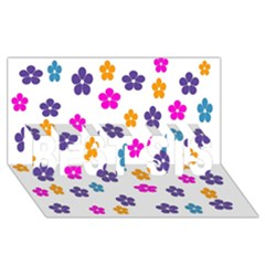 Candy Flowers BEST SIS 3D Greeting Card (8x4)