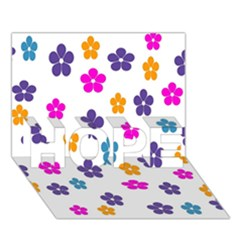 Candy Flowers HOPE 3D Greeting Card (7x5)