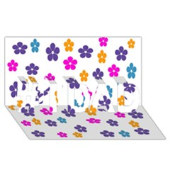 Candy Flowers #1 Dad 3d Greeting Card (8x4)