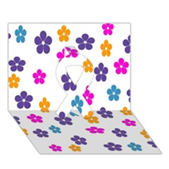 Candy Flowers Ribbon 3d Greeting Card (7x5)