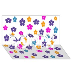 Candy Flowers Sorry 3d Greeting Card (8x4)