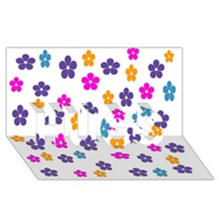 Candy Flowers HUGS 3D Greeting Card (8x4)