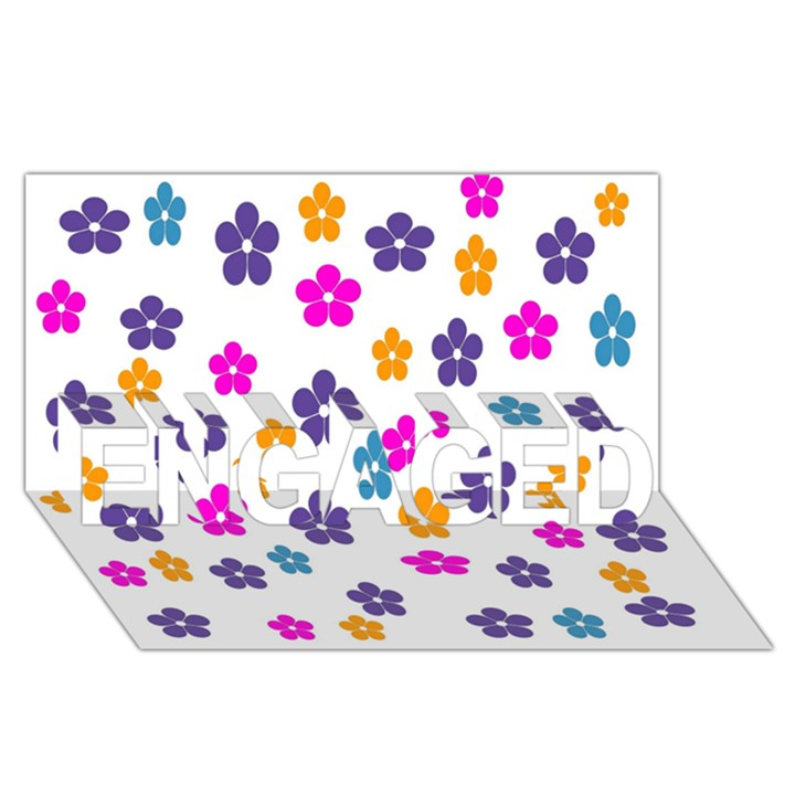Candy Flowers ENGAGED 3D Greeting Card (8x4)