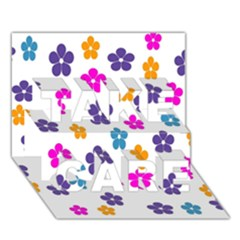 Candy Flowers TAKE CARE 3D Greeting Card (7x5)