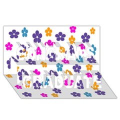 Candy Flowers Congrats Graduate 3d Greeting Card (8x4)