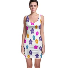 Candy Flowers Bodycon Dresses