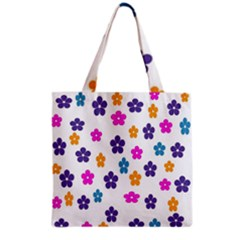 Candy Flowers Grocery Tote Bags