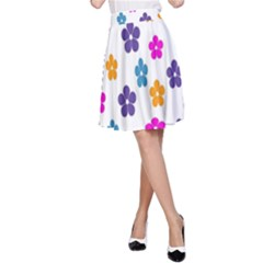 Candy Flowers A Line Skirts
