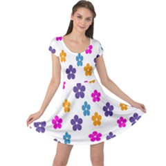 Candy Flowers Cap Sleeve Dresses