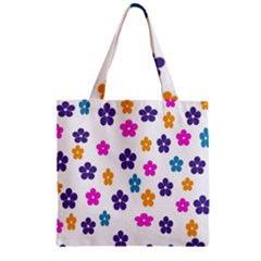 Candy Flowers Zipper Grocery Tote Bags