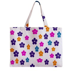 Candy Flowers Zipper Tiny Tote Bags