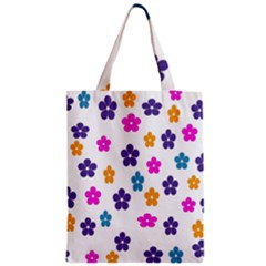 Candy Flowers Zipper Classic Tote Bags