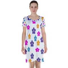 Candy Flowers Short Sleeve Nightdresses