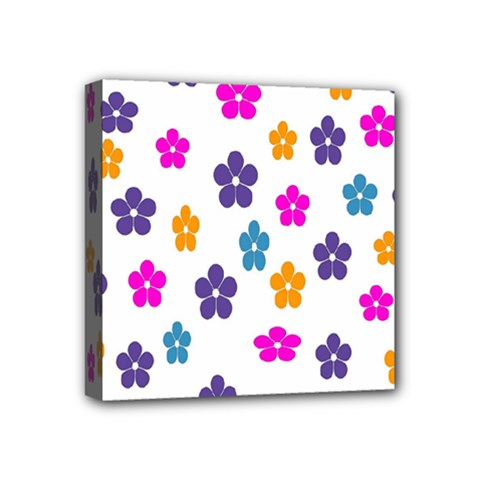 Candy Flowers Mini Canvas 4  X 4