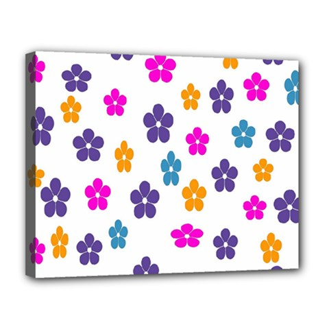 Candy Flowers Canvas 14  X 11