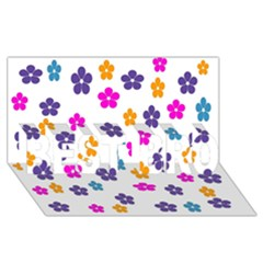 Candy Flowers BEST BRO 3D Greeting Card (8x4)