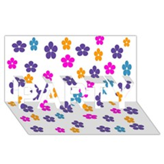 Candy Flowers PARTY 3D Greeting Card (8x4)