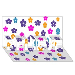 Candy Flowers Believe 3d Greeting Card (8x4)