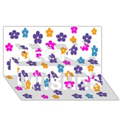 Candy Flowers Best Wish 3D Greeting Card (8x4)