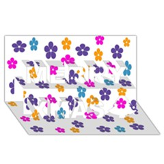 Candy Flowers Merry Xmas 3D Greeting Card (8x4)