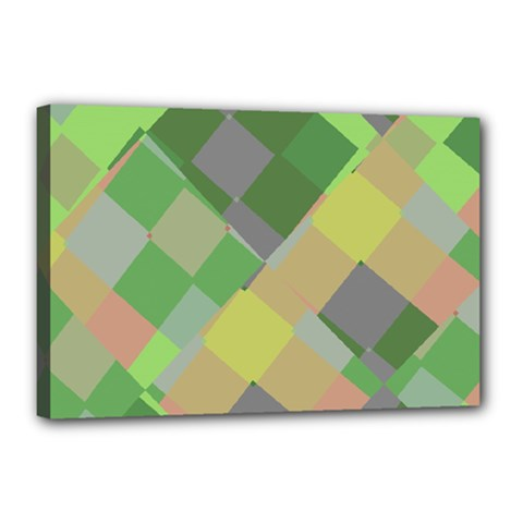 Squares And Other Shapes Canvas 18  X 12  (stretched)