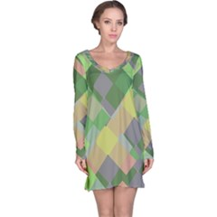 Squares and other shapes nightdress