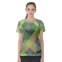 Squares And Other Shapes Women s Sport Mesh Tee