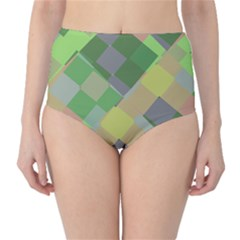 Squares and other shapes High-Waist Bikini Bottoms