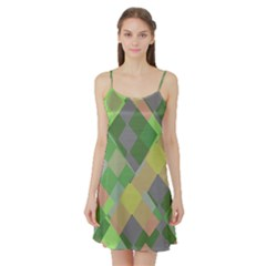Squares and other shapes Satin Night Slip