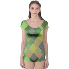 Squares and other shapes Short Sleeve Leotard