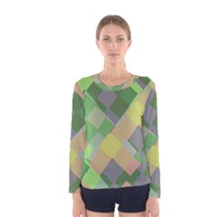 Squares And Other Shapes Women Long Sleeve T Shirt